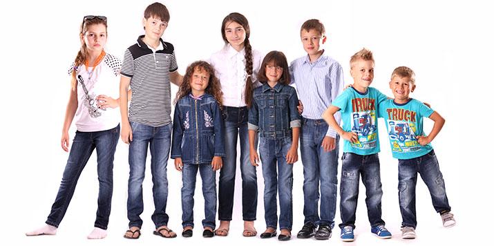 Недорогие детские джинсы